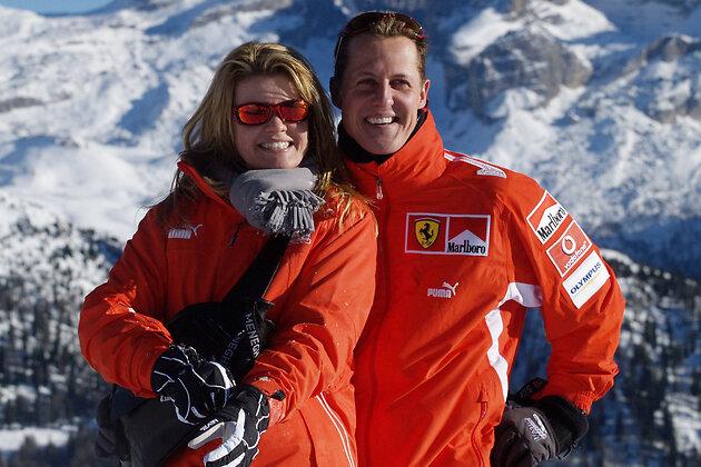 Михаэль Шумахер с женой