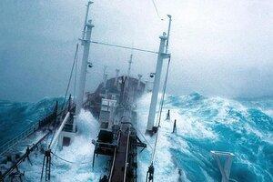 Жуткий шторм в открытом океане: вид с корабля