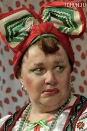 Ольга Чиповская в спектакле «За двумя зайцами»