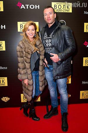Ксения Бородина и Михаил Терёхин на премьере фильма «Волк с Уолл-стрит»