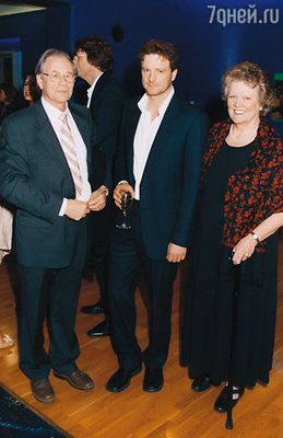 С родителями Дэвидом и Ширли. Лондон, 2003 г.