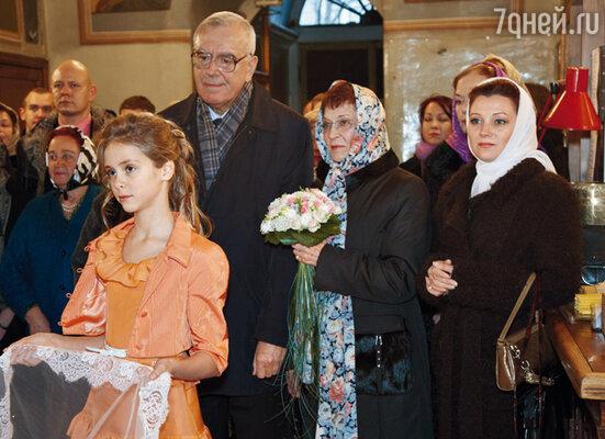 Родители Ольги Аида Николаевна и Игорь Яковлевич с внучкой Татьяной