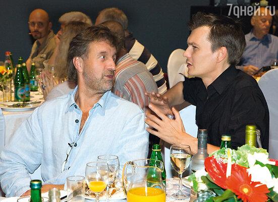 Леонид Ярмольник и Филипп Янковский (он в свое время учился у Табакова в Школе-студии МХАТ)