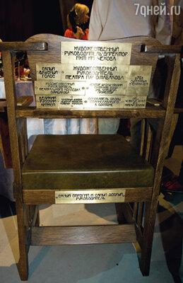 Именное кресло ручной работы — подарок актеров МХТ