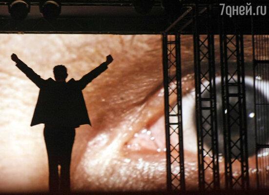 Актер Иван Охлобыстин во время выступления на церемонии открытия XXII кинофестиваля «Кинотавр»