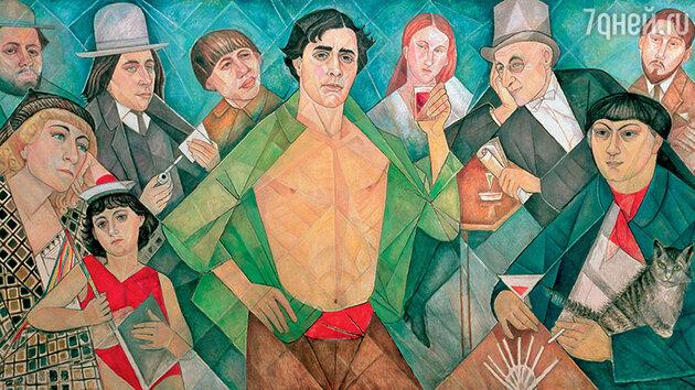 Картина Маревны «Посвящение друзьям с Монпарнаса»