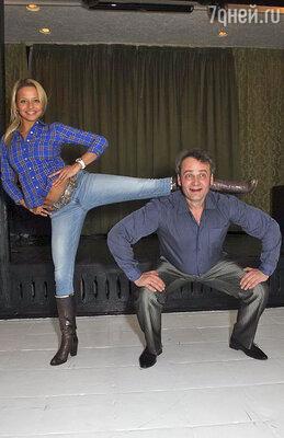 Сергей Барышев и его партнерша по «Танцам со звездами» Юлия Винар