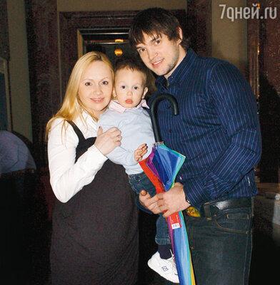 Мария Бутырская с мужем Вадимом Хомицким и сыном Владиком