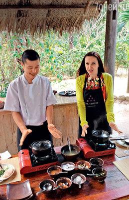 «Я заметила, с каким аппетитом Саша уплетает блюда вьетнамской кухни. Инапросилась на мастер-класс кшеф-повару по имени Ван Дир Фу»