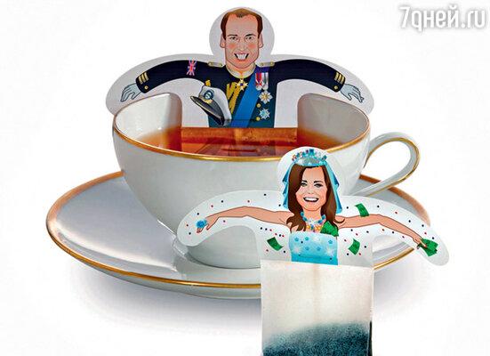 В честь бракосочетания выпустили даже чайные наборы