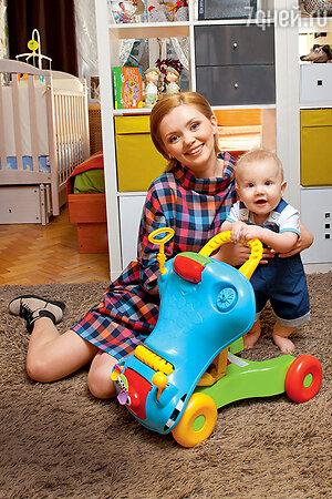 Ольга Кузьмина с сыном Гордеем