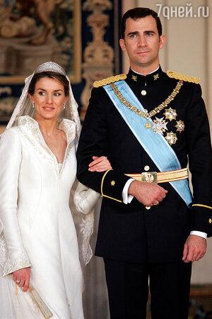 Свадьба принца Фелипе и Летиции Ортис. 7 августа 1999 года