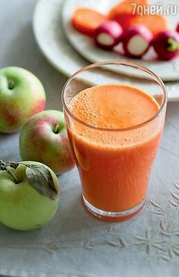 Морковный сок с редиской и яблоками