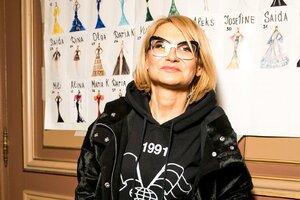 Эвелина Хромченко и Яна Рудковская на показе коллекции Yanina Couture