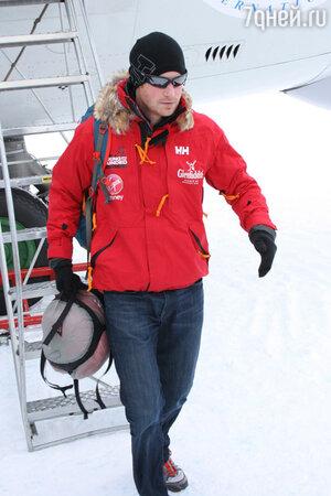 Принц Гарри (prince Harry) готов начать 16-дневную гонку к Южному полюсу