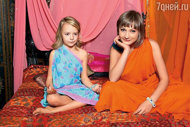 Ксения Качалина  с дочерью Анной-Марией