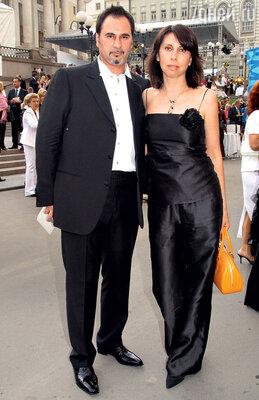 Валерий Меладзе с женой Ириной насветском мероприятии