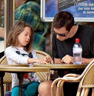 Хью Джекмэн с дочерью Авой Элиот