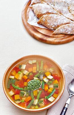 Прованский суп с соусом писту