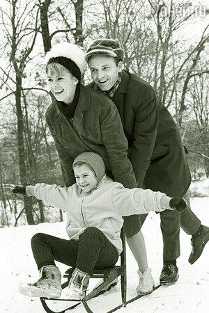 Лариса Латынина с мужем и дочерью