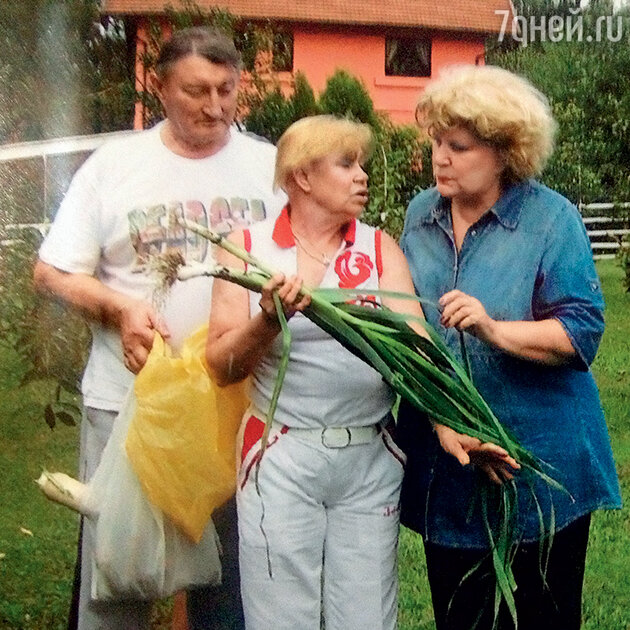Елена Образцова и Лариса Латынина с мужем