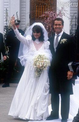 Арнольд — счастливый жених. В день свадьбы с Марией Шрайвер. 1986 г.