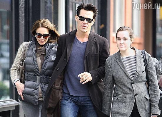 С женой Дайен Лэйн и дочерью Иден