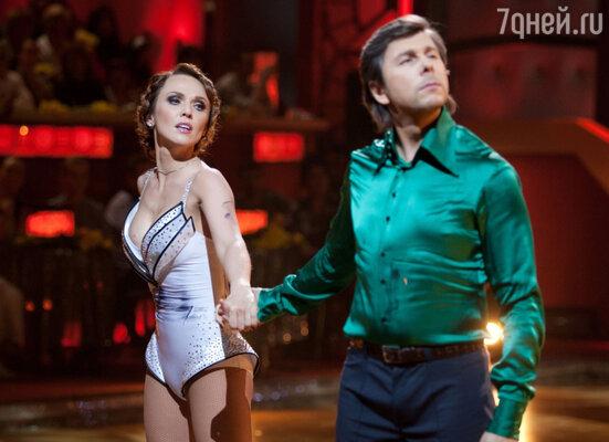 Альбина Джанабаева и Андрей Фомин в программе «Танцы со звездами»