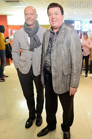 Федор Бондарчук и Иосиф Кобзон на премьере фильма «Скорый «Москва-Россия»