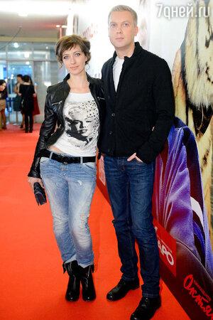 Сергей Светлаков с супругой на премьере фильма «Скорый «Москва-Россия»