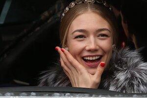 Оксана Акиньшина впервые показалась на публике после рождения дочки