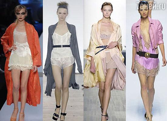 Дизайнеры «выгуливают» на подиумах моделей в комбинациях, утверждая: это модный писк грядущего весенне-летнего сезона. Да-да, теперь на ночную комбинацию можно взглянуть, как на вечернее платье, но я люблю более сложносочиненные наряды и платья из плотных тканей