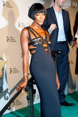 Наоми Кэмпбелл в платье из коллекции Atelier Versace 1992 года на благотворительном вечере в Нью-Йорке 2013