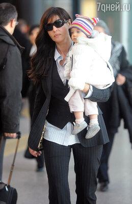 С младшей дочерью Леони
