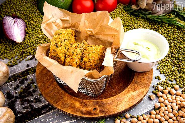 Рецепты постных блюд: фалафель с кунжутным соусом
