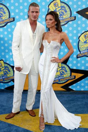 Дэвид и Виктория Бекхэм  на церемонии MTV Awards в 2003 году