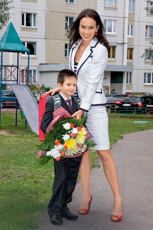 Мария Берсенева с сыном Никитой