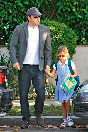 Бен Эффлек с дочкой Вайолет