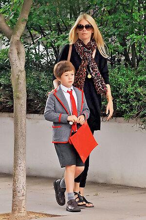 Клаудиа Шиффер с сыном Каспером