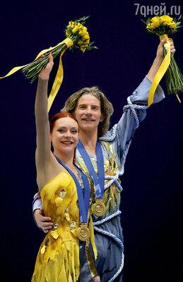 ...золото получили Марина Анисина и Гвендаль Пейзера