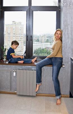 Ирина Лобачева с сыном Мартином
