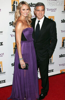 «Лучший голливудский актер года» Джордж Клуни и Стейси Киблер.