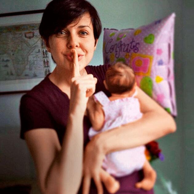 Ольга выложила на своей страничке в соцсети первый снимок маленькой дочки Музы