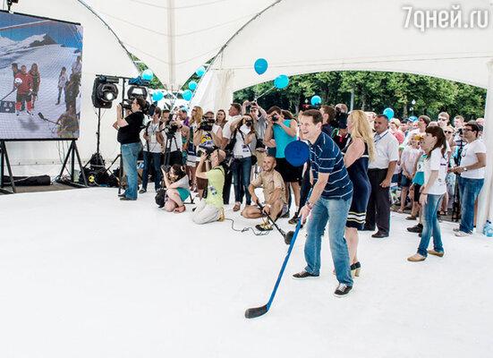 Наши спортсмены решили не ждать  начала Олипиады в Сочи и устроили репетицию соревнований в Москве