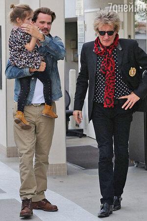 Род Стюарт с сыном Шоном