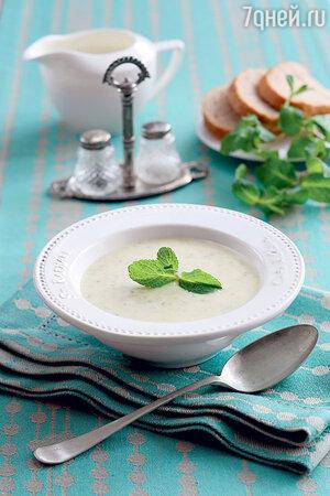 Суп из кабачков с мятой