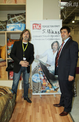 Никас Сафронов и президент компания «Тач Текстиль» Мустафа Терзи
