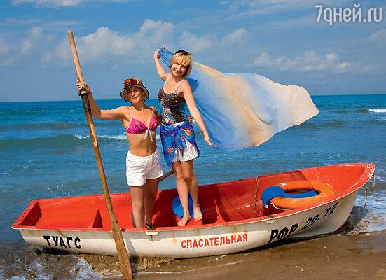 Ведущие «Веселых стартов» Алена Яковлева и Ольга Прокофьева
