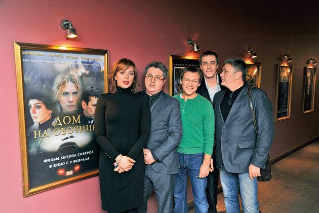 Кристина Кузьмина, Дмитрий Месхиев, Антон Сиверс на премьере фильма «Дом на обочине»