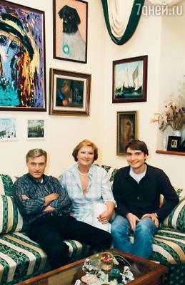 Борис Щербаков с женой Татьяной Бронзовой и сыном Василием